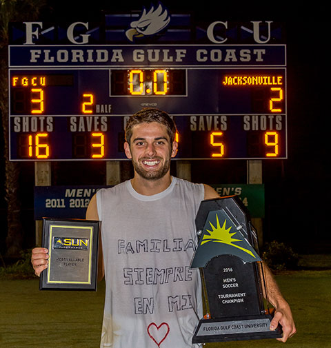 photo shows fgcu soccer player