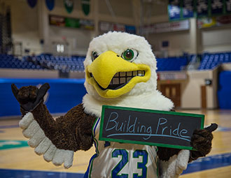 Azul the Eagle flies high among collegiate mascots