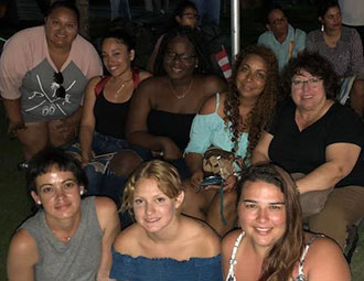 photo shows FGCU students in Puerto Rico