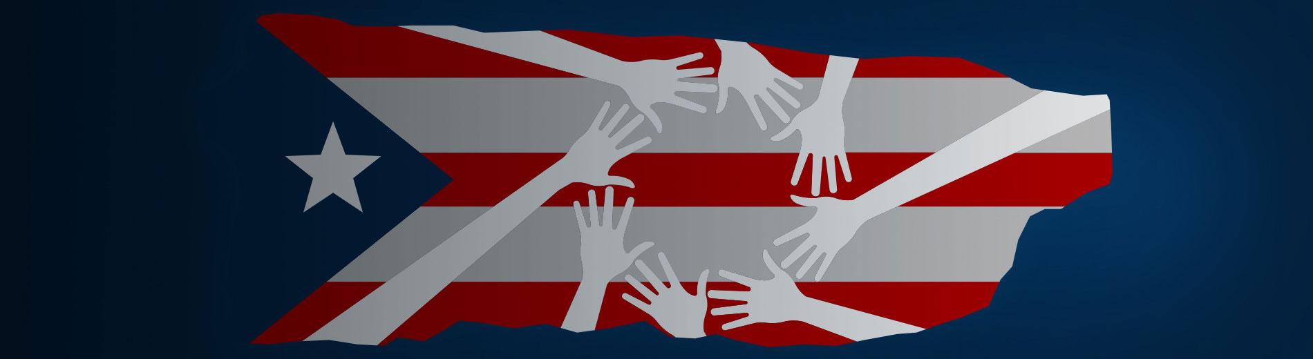 illustration of Puerto Rican flag