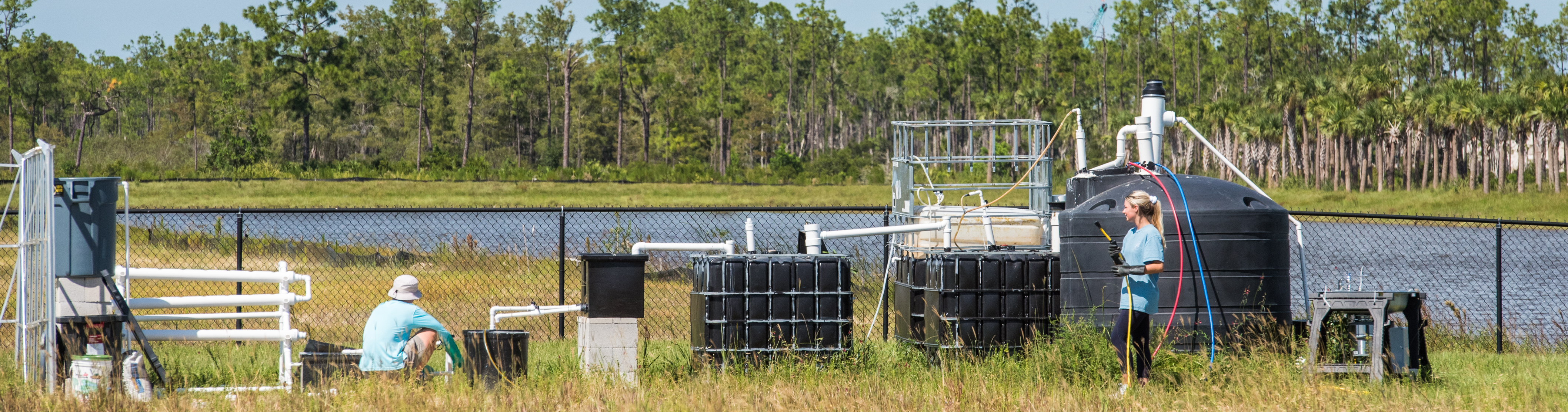 Photo shows FGCU waste to energy project