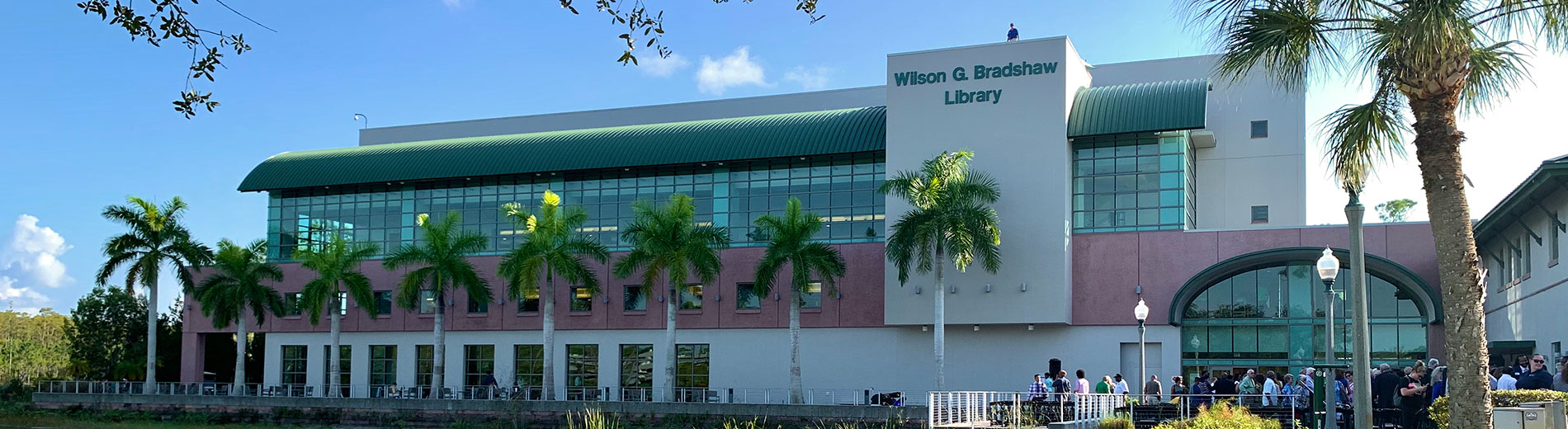 Photo shows FGCU library