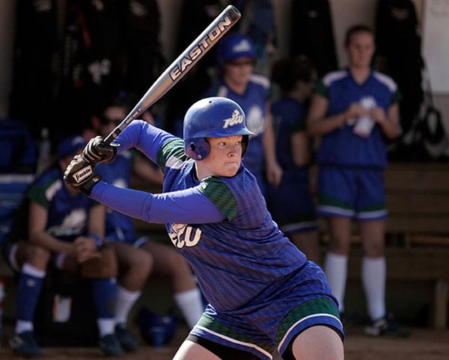 photo shows FGCU softball player