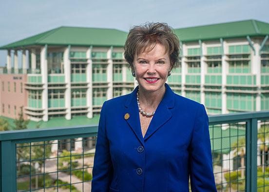 Photo shows Marieb College dean Ann Cary