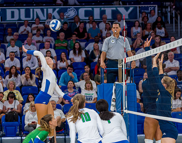 photo shows FGCU volleyball player