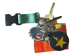 Photo of keys for objects of affection articls - with duct tape around Eagle ID card.