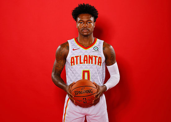 photo shows basketball player Brandon Goodwin