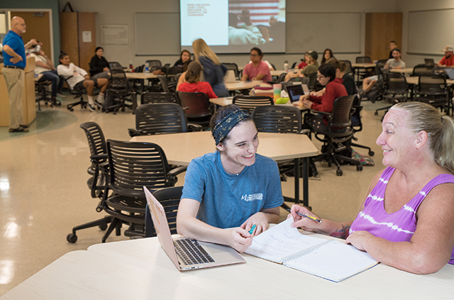 photo shows FGCU students in class