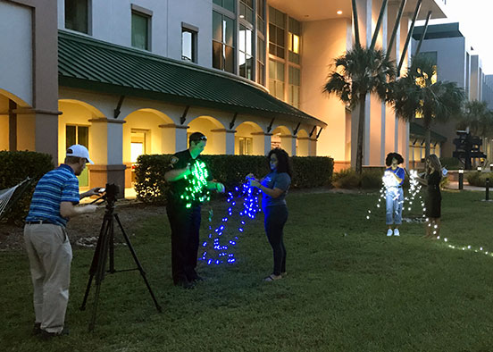Photo of video shoot on FGCU campus