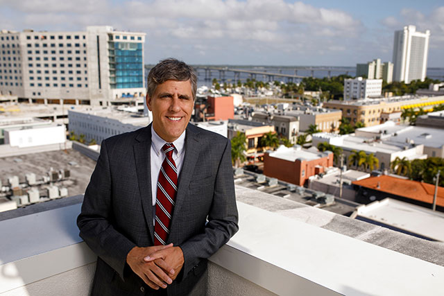 Photo shows Christopher Westley, the new dean of FGCU's Lutgert College of Business.