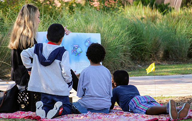 Photo shows FGCU Literacy Festival.