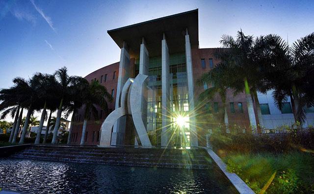 Photo shows FGCU's Lutgert Hall