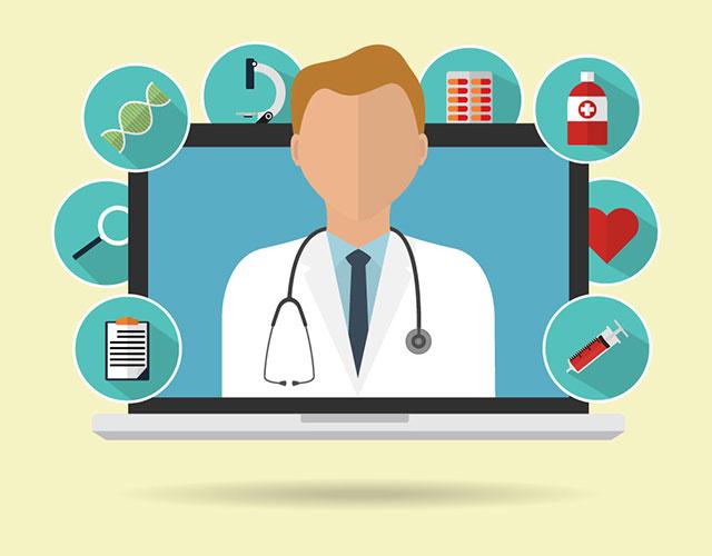 graphic illustrates telemedicine