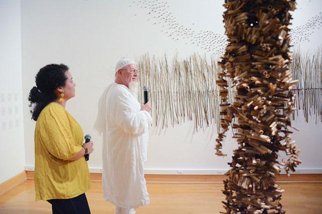 Photo shows FGCU art gallery