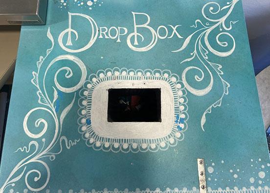 photo shows medicine drop box