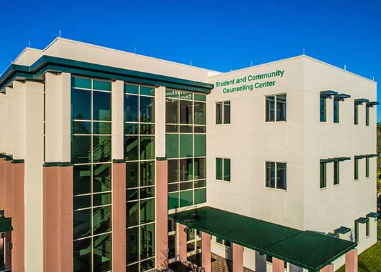 Photo shows FGCU counseling building