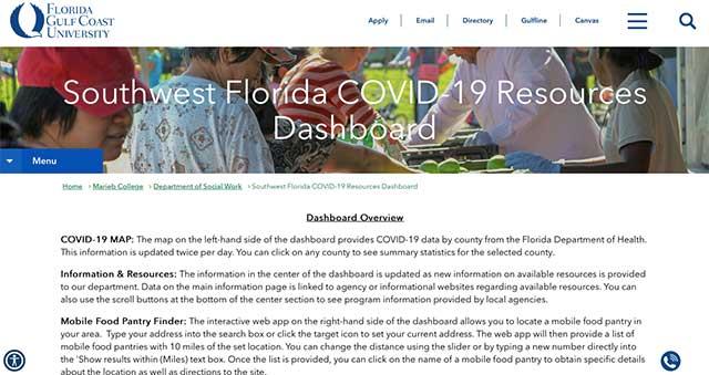 Photo shows COVID data dashboard
