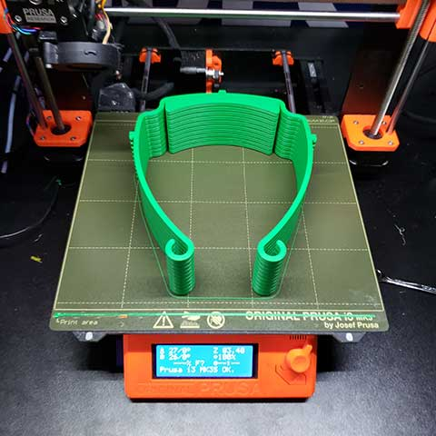 Photo shows 3D printer