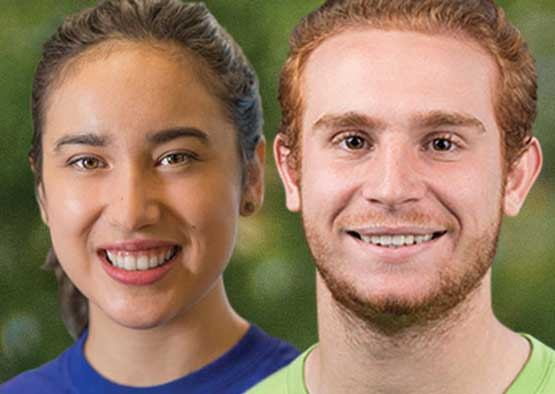 Photo shows scholarship winners