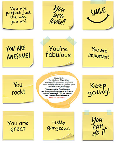 Kindness class sticky notes