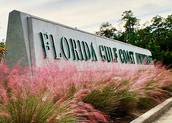 Photo shows FGCU entrance