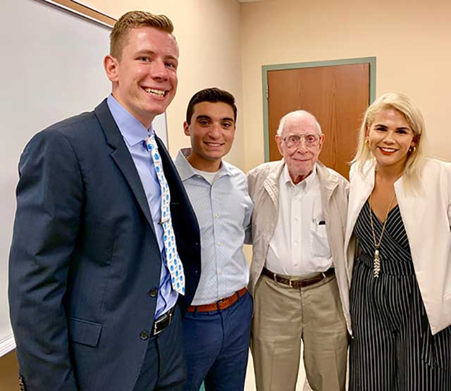 photo shows FGCU donor with students