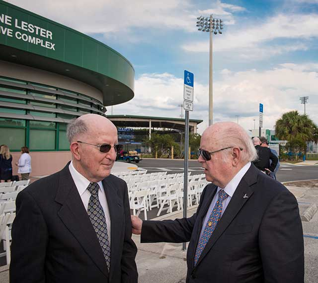 Photo shows FGCU donors at dedication ceremony
