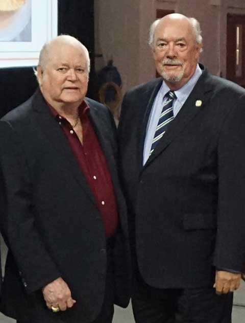 photo shows FGCU donor Ben Hill Griffin with FGCU president Mike Martin
