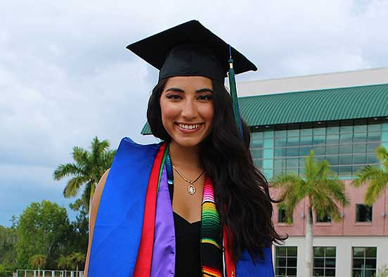 Photo shows FGCU alumna