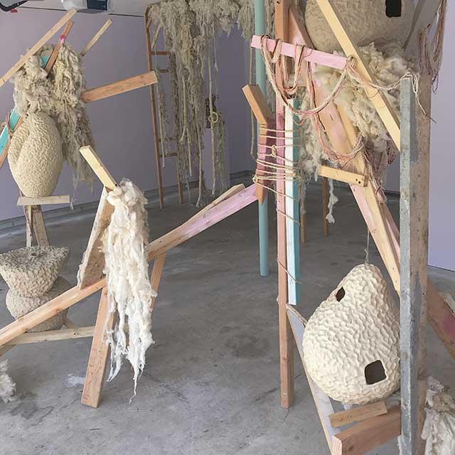 PHoto shows art installation