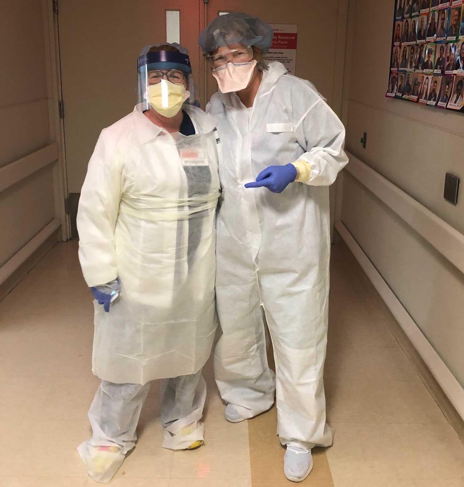 Photo shows nurses