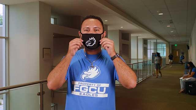 Photo shows FGCU student