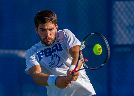 Photo shows FGCU tennis player