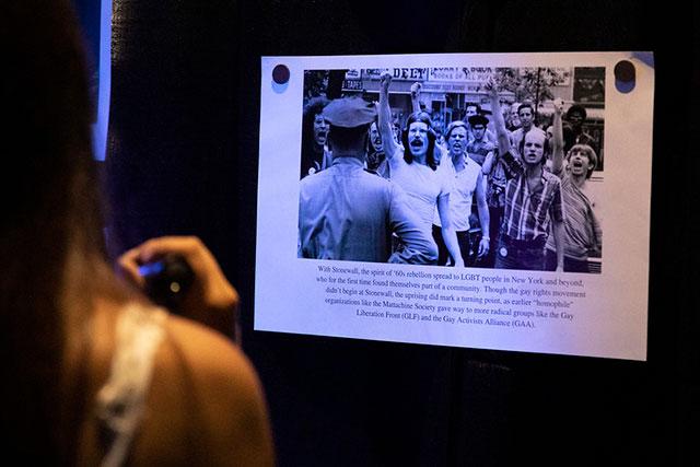 Photo shows exhibit