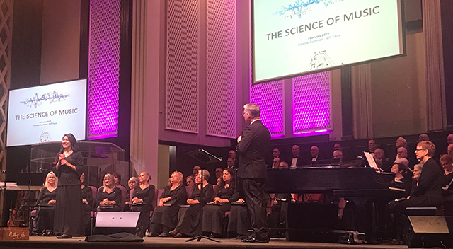 photo shows chorus on stage