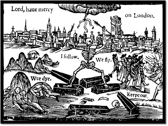 graphic illustration about the plague
