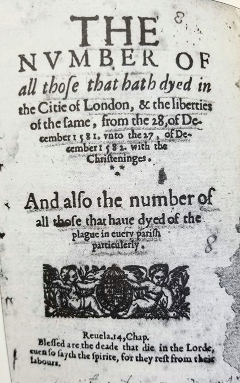 photo shows bill of mortality