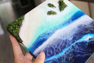 photo shows artwork