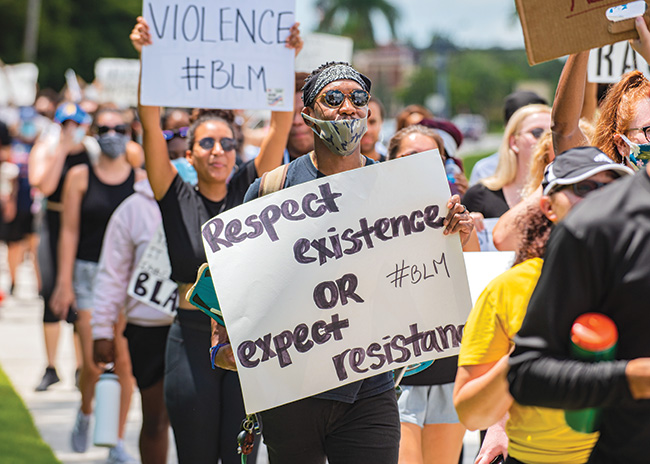 FGCU students march to bring attention to racial inequities.
