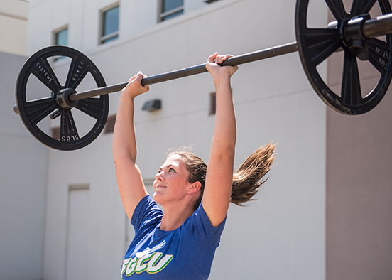 photo shows student working out