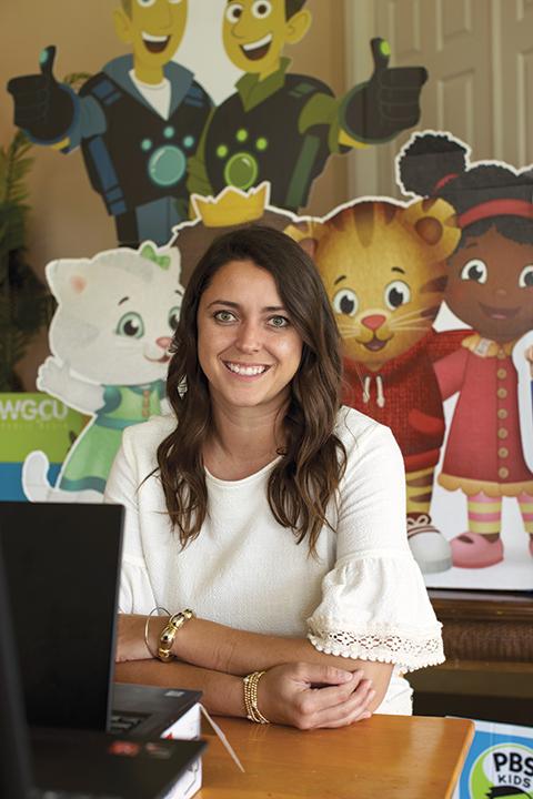 Photo shows WGCU staff memberStephanie Murray