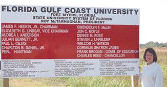 FGCU construction sign