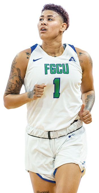 FGCU sophomore guard Kierstan Bell played a key role in the team's success.