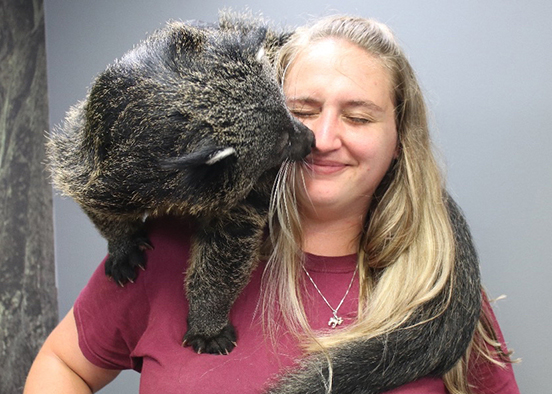 Alumna embraces wild start to career as zoo interpreter
